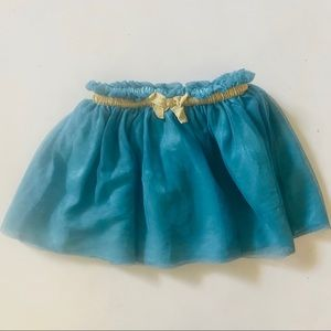 Koala Kids Teal Tutu Gold Metallic Band Bow 4T